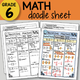 Doodle Sheet - Multiplying Fractions - EASY to Use Notes - PPT included!