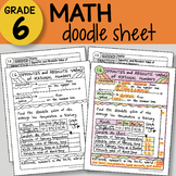 Doodle Sheet - Opposites and Absolute Value of Rational Numbers