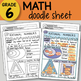 Doodle Sheet - Rational Numbers - EASY to Use Notes - PPT included!