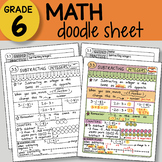 Doodle Sheet - Subtracting Integers -  EASY to Use Notes - PPT included!