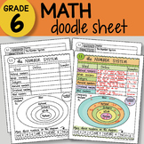 Doodle Sheet - The Number System - So EASY to Use! PPT included