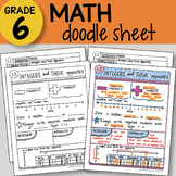 Doodle Notes - Integers and Their Opposites - So EASY to Use! PPT included