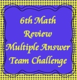 6th Math Review, Multiple Answer Challenge, TCAP Review (flipchart)