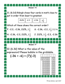 6th Math STAAR Review: Readiness Standards: Scavenger Hunt or Bingo
