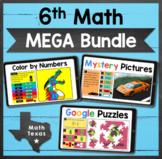 6th Math TEKS ✩ STAAR Test Prep ✩ Digital MEGA Bundle