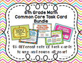 6th Math Task Card Bundle