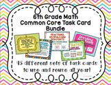 6th Math Task Card Bundle