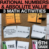 6th Ordering Rational Numbers & Absolute Value   6th Grade