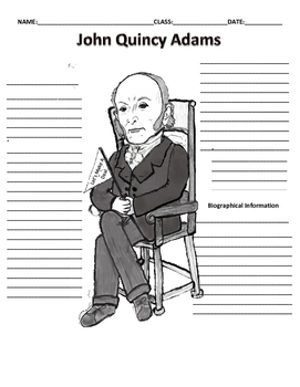 6th President  of United States John Quincy Adams