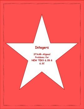 6th STAAR Integers New TEKS 6.2B & 6.2C