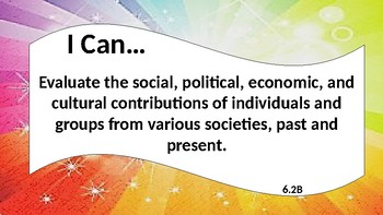 6th Social Studies Teks