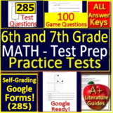 6th and 7th Grade Math BUNDLE!  Practice Tests and Games Spiral Review CCSS