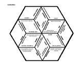 6th and 7th Grade Social Studies - Economics Hex Puzzle - GPS