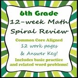 6th grade Math Spiral Review