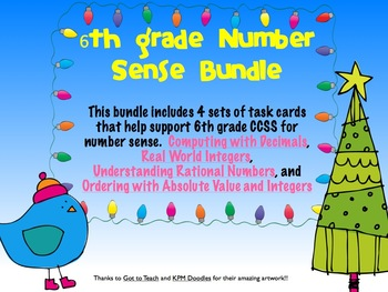 6th grade CCSS Number Sense Bundle