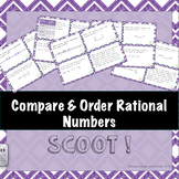 Compare and Order Rational Numbers Task Cards (Scoot!)