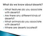 6th grade Core Knowledge Deserts unit