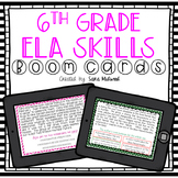 6th grade ELA text skills Boom Cards GROWING Bundle   Dist