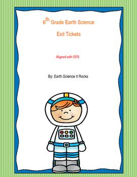 6th grade Earth Science Exit Tickets