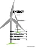 6th grade Energy - UNIT supplement