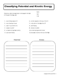 6th grade Energy worksheets