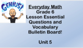 6th grade Everyday Math Unit 5 Essential Questions and Voc