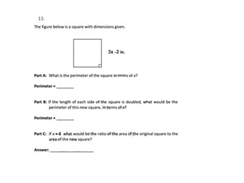 6th grade Expression/Equation Study Guide