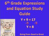 6th grade Expression/Equation Study Guide
