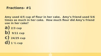 6th grade Fraction word problems