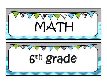 6th grade MATH Common Core I can statements
