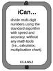 "6th grade Math CCSS ""I Can..."" Statements iPad design"