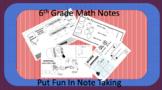 6th grade Math Doodle Notes