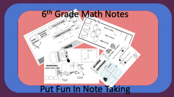 Math Doodle Notes 6th Grade Worksheets & Teaching Resources | TpT