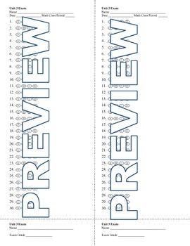 6th grade Math Exam Common Core EE 1-4