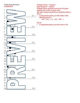 6th grade Math Exam Common Core EE 1-9