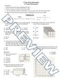 6th grade Math Exam Common Core G 1-4 NS 5-8