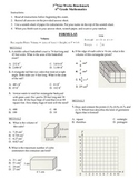 6th grade Math Exam Common Core G 1-4 NS 5-8 PDF