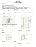 6th grade Math Exam Common Core G 1,2,4 PDF