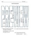 6th grade Math Exam Study Guide EE 1-9