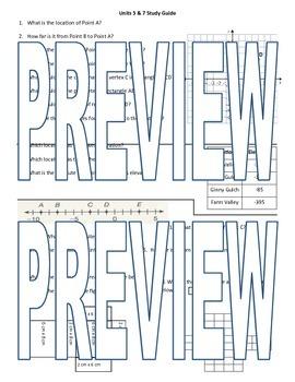 6th grade Math Exam Study Guide G 1-4 NS 5-8
