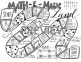 6th grade Math Review Game: Math-e-Magic Land!