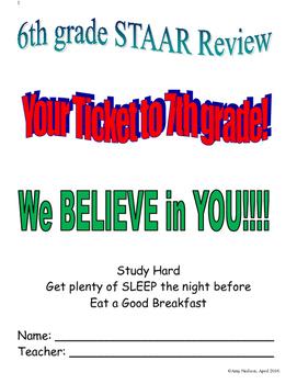 6th grade Math STAAR Review Book