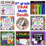6th grade Math STAAR Test Prep Ultimate BUNDLE Games Task Cards Activities FUN!