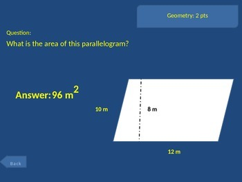 6th grade Math Unit 5 Exam Common Core Review Game G.1,2,4