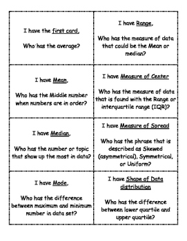 6th grade Math Vocabulary STAAR review.... I have, Who has