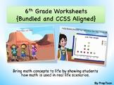 Common Core Math Worksheets:Grade 6