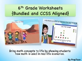 Common Core Math Worksheets:Grade 6