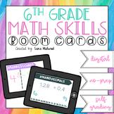 6th grade Math skills Boom Cards GROWING BUNDLE   Distance