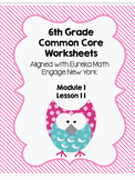6th grade Module 1 Lesson 11 Worksheet/ Quiz Eureka Math Tables