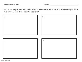 6th grade Number Sense Task Cards (6.NS Common Core Aligned)